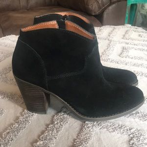 Lucky Brand 🍀 Black Leather Booties